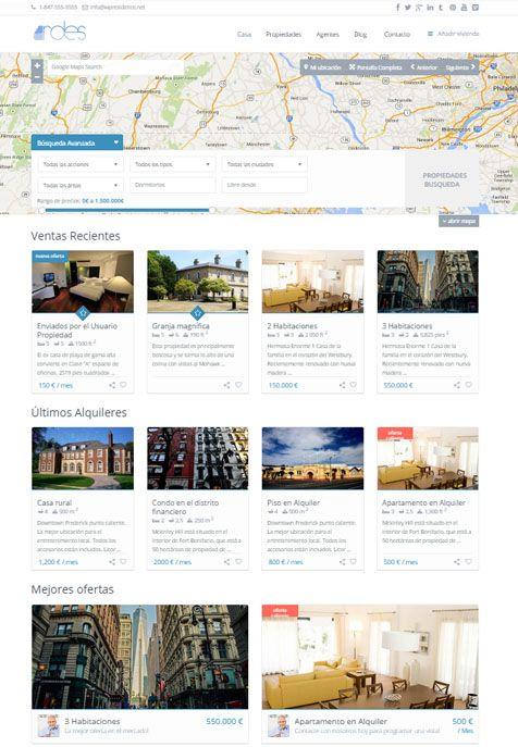 Saber más de la Web para Inmobiliarias
