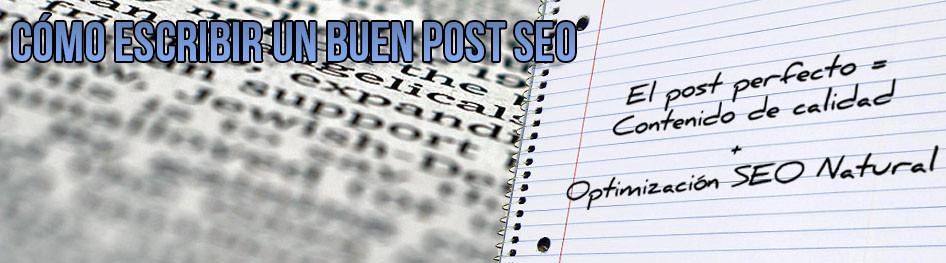 Cómo escribir un buen post SEO