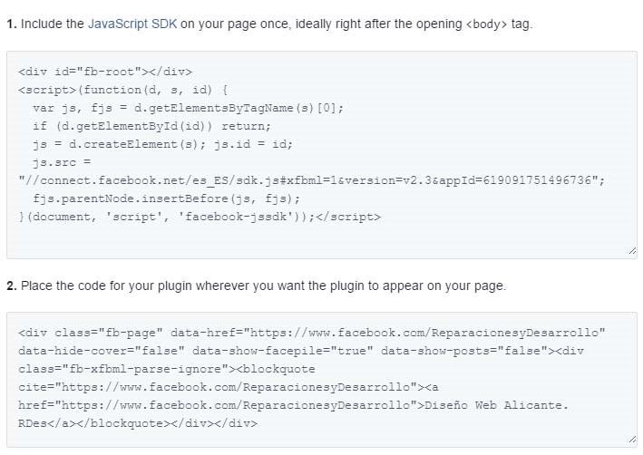 Código Fuente Caja Facebook